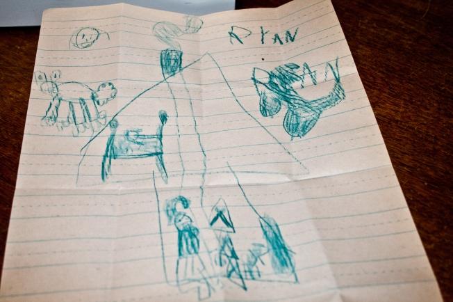 Ryan's letter to Santa B